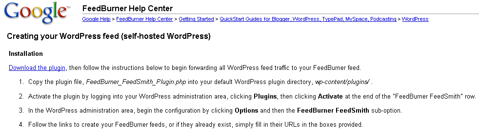 plugin wordpress feedburner