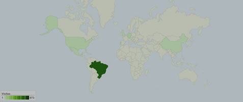Cobertura Geo Map do Google Analytics