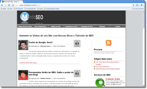 Interface do Google Chrome: Simples e Funcional
